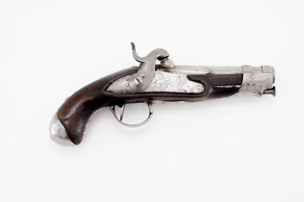 De Mauberge French Gendarme percussion pistol with wood stock