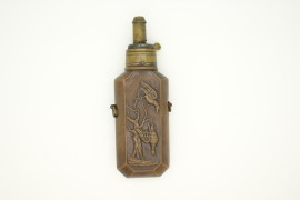 original B.A Paris copper & brass powder flask medical style caduceus