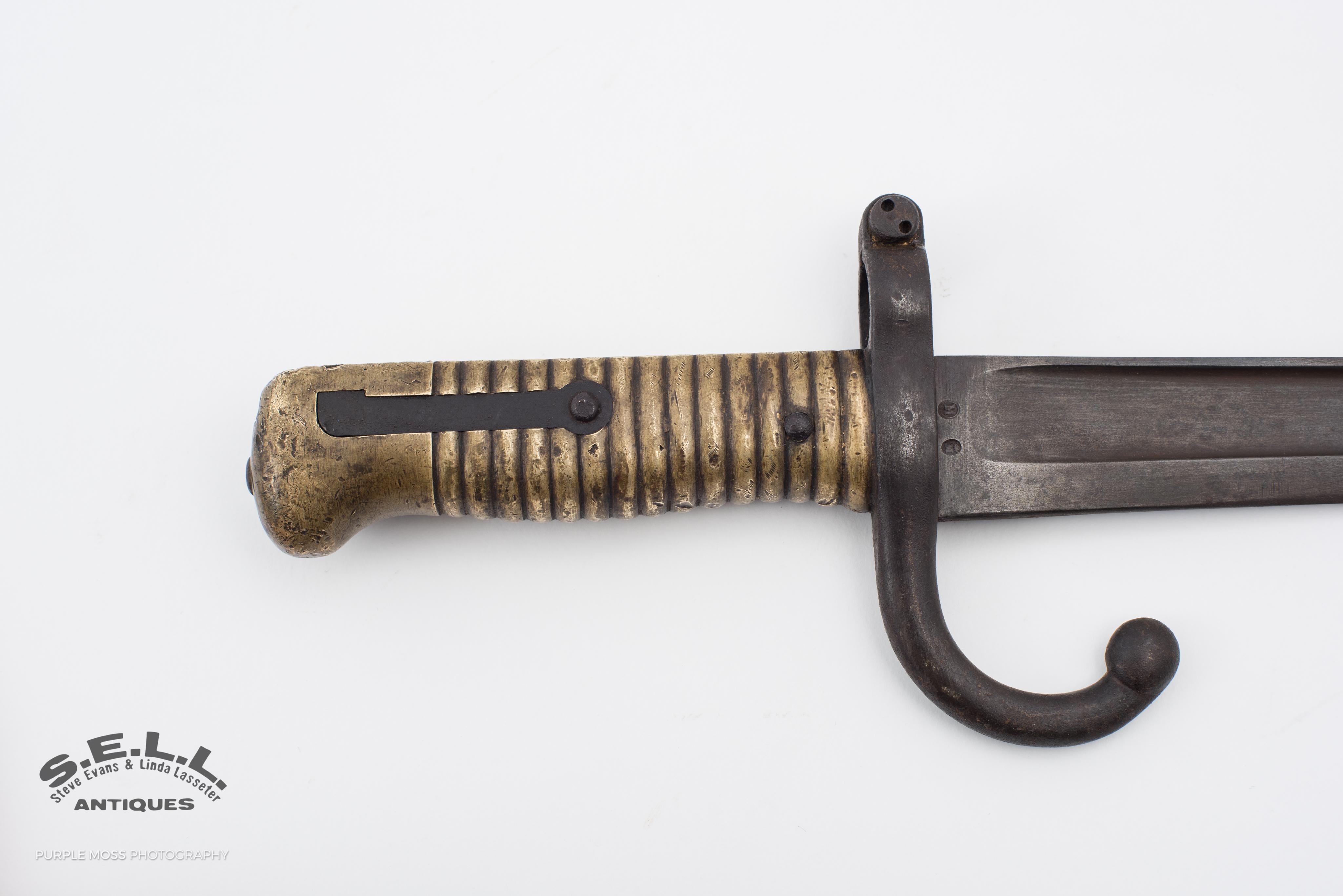 WW1era fighting knife / French bayonet Chassepot Salt Lake City Store