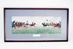 Keep To Your Sabers Men Mort Kunstler Confederate General Hampton framed signed numbered Michigan Brigade
