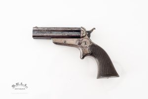 Sharps and Hankins 4 barrel pistol pepperbox Philadelphia Penn. breech loading hard rubber grips original antique Martin Retting collection