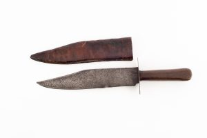 Civil War bowie Knife with sheath authentic antique large original