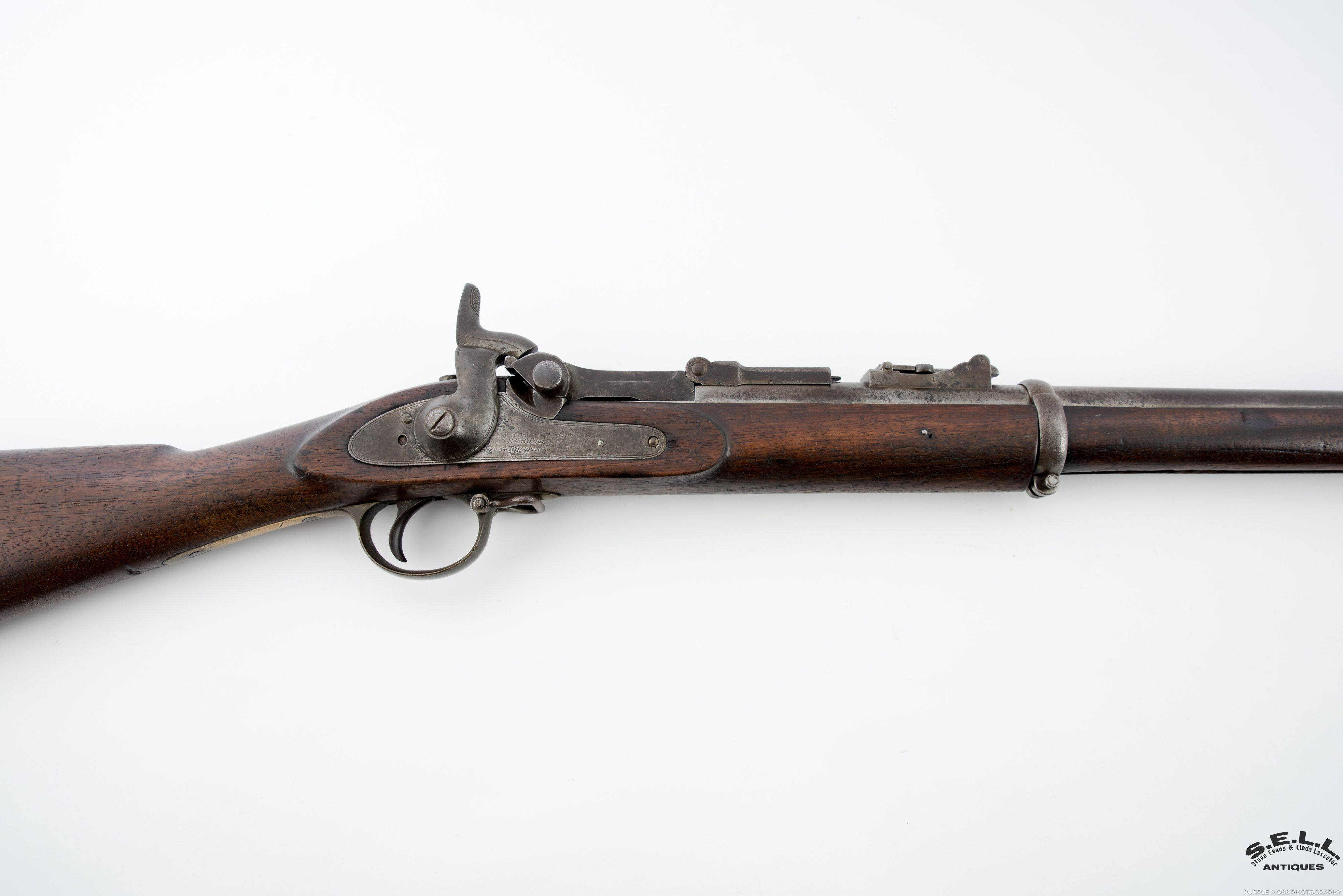 CONFEDERATE BLOCKADE MARKED 1853 ENFIELD MUSKET CONVERSION
