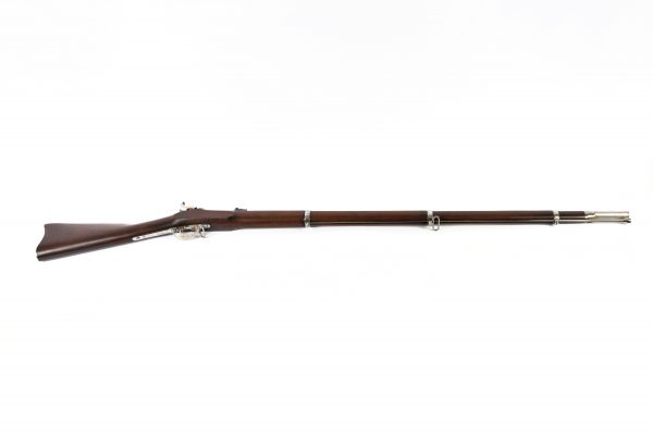 Civil War superposed loads walnut stock 58 caliber antique finished bright original