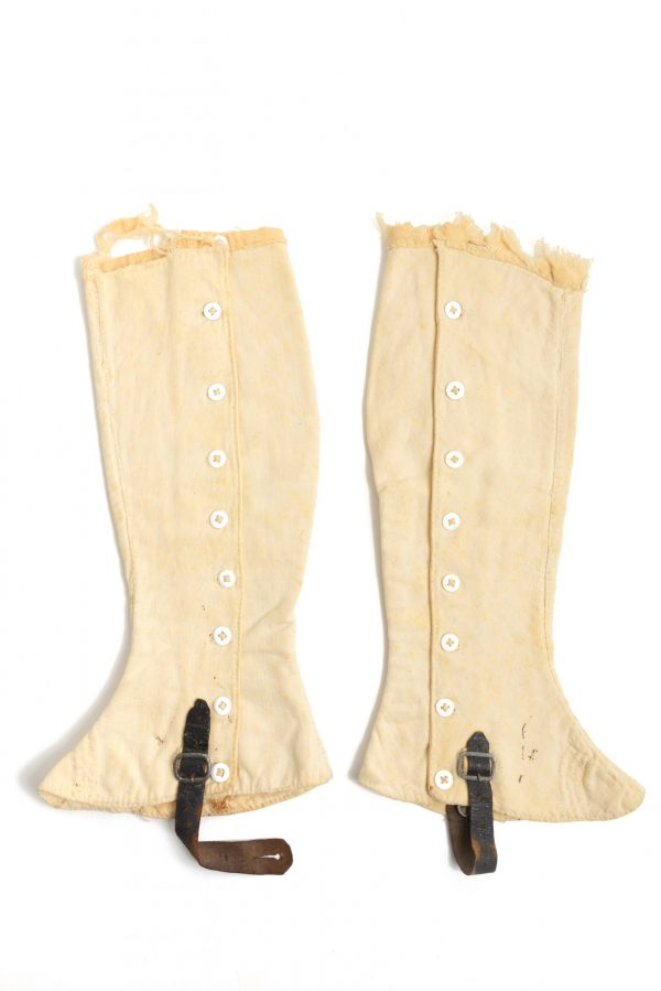 fully lined Union quilted toes tarred leather flannel 19th century antique original