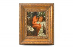 oil painting canvas framed Ramon Kelley Nicholi Fechin seated nude female figure Charlie Dye